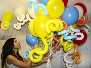 Воздушные шары с гелием.Оформление праздника,выписка. День рождения Москва