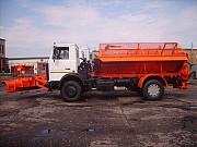 Съемное пескоразбрасывающее оборудование на шасси а/м МАЗ 5337 Смоленск