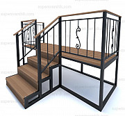Лестница из металла, металлическое крыльцо Москва
