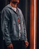 Джинсовки, джинсовые куртки oversize с капюшоном Москва