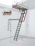 Металлическая лестница для помещений с высокими потолками Ставрополь