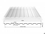 Поликарбонатный профилированный лист С-8х1150 (0, 9мм) Ставрополь