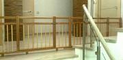 Ограждение, барьер, заборчик деревянное для лестниц Москва