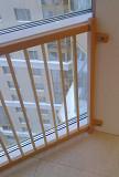 Ограждение, барьер, заборчик деревянное для витражных окон, эркеров, лестниц, опасных зон Москва
