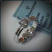 Помолвочные кольца из золота, платины и серебра на заказ Москва