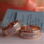 Обручальные кольца из золота, платины и серебра на заказ Москва