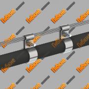 Тросовая, воздушная проводка кабеля Челябинск
