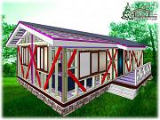 Быстро построить деревянный дом 103 м.кв. в Крыму Симферополь