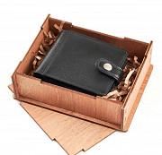 Подарочный набор С годовщиной! 5 лет...: портмоне комбинированное + коробка из дерева Глазов
