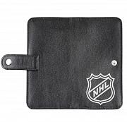Клатч на кнопке мини с обработанными краями NHL, черный Глазов