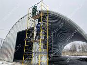 Производство, строительство бескаркасных ангаров арочных Самара
