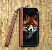 Клатч на молнии комбинированный «Рыжая лиса» Глазов