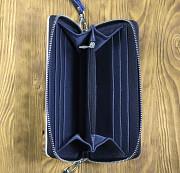 Клатч на молнии комбинированный «Полосы ромбы» Глазов