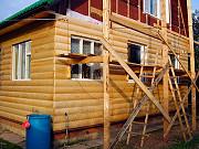 Обшивка блок-хаусом, отделка деревянной вагонкой дачного домика, дома, балкона, лоджии в Пензе Пенза