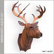 Голова оленя на стену из дерева Пушкино