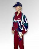 Винтажный костюм 90-х Saller красный новый на движ Москва