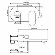 Смеситель для раковины WasserKRAFT Elbe 7430 Москва