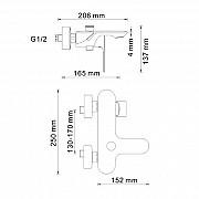 Смеситель для ванны WasserKRAFT Dinkel 5801 Москва