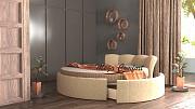 Круглая интерьерная кровать «Жемчужина» Москва