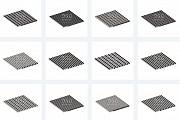 Придверные грязезащитные ковры на алюминиевой основе Москва