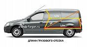 Прокат аренда автомобиля LADA largus фургон Москва