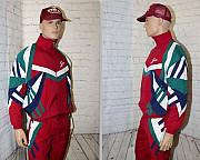 "Винтажная олимпийка 90-х ""Saller"" (Vinatex), новая, красная, на движ Москва"