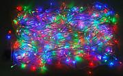 Разноцветная светодиодная гирлянда-нить 300 LED лампочек 19 м Москва