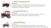 Трактора МТЗ 300 серии Москва