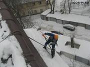 Очистка крыши от снега, льда, сосулек. Ростов-на-Дону