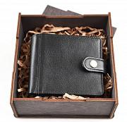 Подарочный набор: Портмоне комбинированное Геральдика М + коробка из дерева Глазов