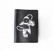 """Обложка на паспорт """"Астронавт"""", черный Глазов"""