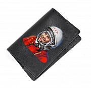 """Обложка на паспорт """"Гагарин"""", черный Глазов"""