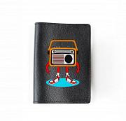 """Обложка на паспорт """"Радио арт"""", черный Глазов"""