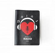 """Обложка на паспорт """"Радио Сердце"""", черный Глазов"""