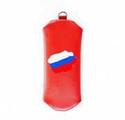 Ключница на молнии Флаг РФ , красная Глазов