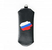 Ключница на молнии Флаг РФ , черная Глазов