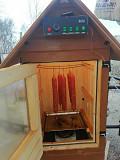 Деревянная эко коптильня домиком Красноярск