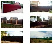 Забор из металлопрофиля Медовка установка заборов в Медовке Воронеж