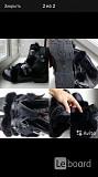Ботинки новые мужские зима кожа черные 43 размер сапоги внутри овчина верх мех кролик принт дизайн д Москва