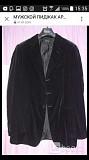 Пиджак мужской armani 48 l черный велюр бархат чехол классика костюм вечерний нарядный мягкий на вых Москва