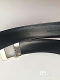 Ремень мужской dupont франция кожа черный кожаный металл под платину белое золото серебро покрытие л Москва