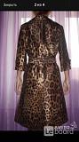 Плащ новый dolce&gabbana италия 46 м размер леопард корчиневый шелк длина миди Москва