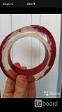 Браслет новый miss sixty красный прозрачный пластик широкий круглый бижутерия вишневый размер средни Москва