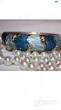 Браслет на руку стразы сваровски swarovski кристаллы голубой синий бижутерия украшения на руку аксес Москва