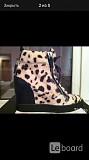 Сникерсы ботинки полусапожки новые giuseppe zanotti италия 39 размер женские на танкетке кожа черные Москва