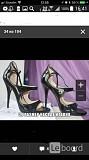 Босоножки туфли casadei италия 39 размер черные лак кожа платформа 1 см каблук шпилька 11 см одевали Москва