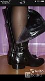 Сапоги женские now италия 39 размер кожа черные зима мех овчина кожаные сапожки зимние без каблука н Москва