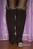 Ботфорты сапоги fabiani италия 39 38 размер коричневые замша зима мех таскана зимние женские сапожки Москва