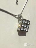 Колье бижутерия стразы сваровски swarovski украшение кристалл камни белые на шею стиль мода топ трен Москва