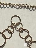 Цепь колье бижутерия украшение металл под золото цепочка топ мода стиль бренд тренд красота на шею Москва